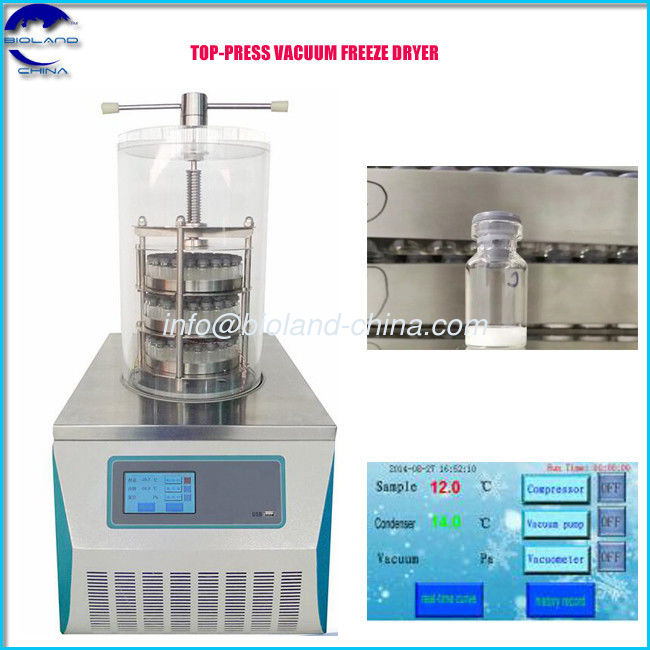 BL-10B China Top-Press Vacuum Freeze Dryers, Pharmaceutical Vials Lyophilizer , Laboratory Freeze Dryer Price