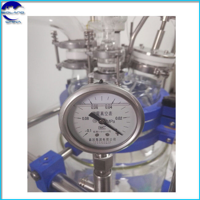 150L Chemical Laboratory borosilicate Double Layer Stirred  jacketed glass reactor vessel | double jacket reactor