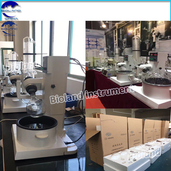 10L Rotary Evaporator With Vertical Condenser for Pharmaceutical Chemical , New Design Rotary Evaporator